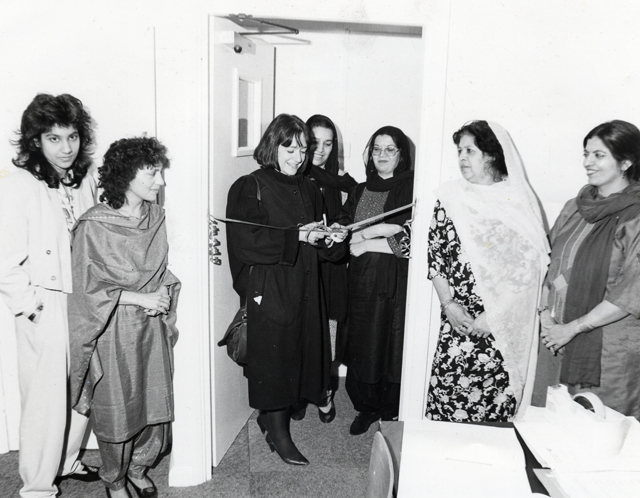 LB Islington, opening of Pakistan Women's Welfare Association offices, 1991 (Islington Local History Centre)