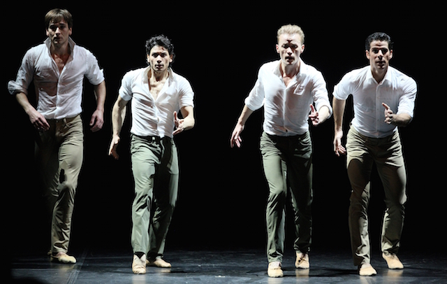 Friedemann Vogel, Herman Cornejo, Denis Matvienko and Marcelo Gomes in Tristesse. Photo: Stas Levshin