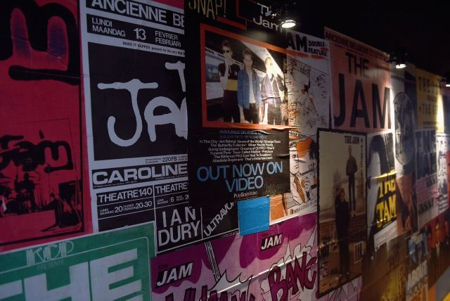 The show opens with a selection of posters advertising their gigs. Photo Mary Turner (Getty images for Somerset House)