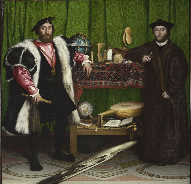 Hans Holbein's The Ambassadors is well known for it's distorted skull so it now has a distorted soundtrack. © The National Gallery, London