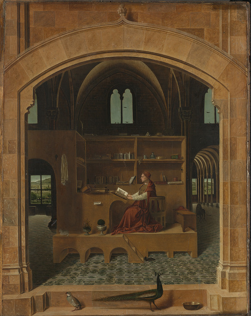 St. Jerome in his study is now accompanied by an architectural re-enactment with no Saint and only his footsteps to be heard © The National Gallery, London