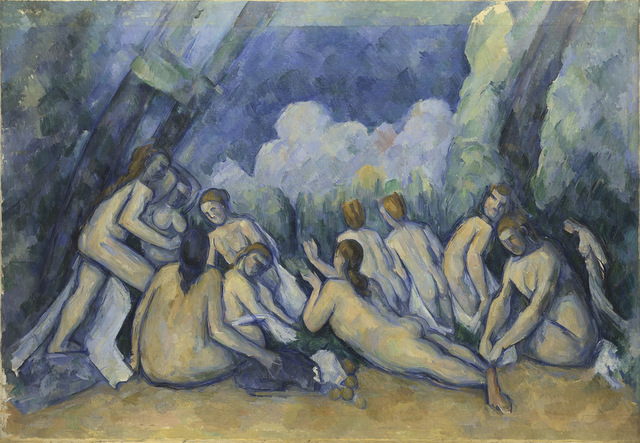 View Cezanne's bathers from different angles and the music changes too. © The National Gallery, London