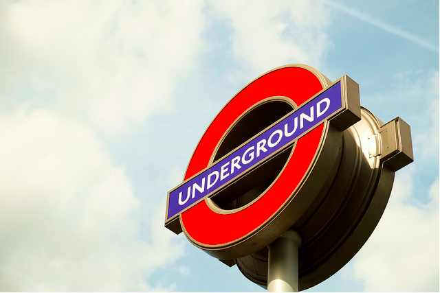 The TfL roundel. Photo by Photosam from the Londonist Flickr pool.