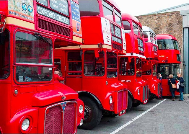Routemasters. Photo by McTumshie from the Londonist Flickr pool.