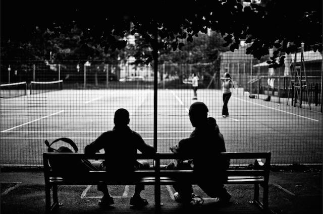 (Not) watching tennis, Lincoln's Inn Fields. Photo: Gary Kinsman (2009)