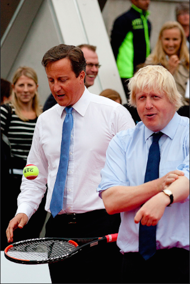 Dave and Boris prepare to play tennis with members of the UK Paralympic tennis team. Photo: Mark Baynes (2011)