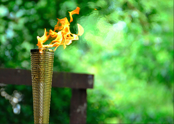 The Olympic Torch in Barking Park. Photo: Pallab Seth (2012)