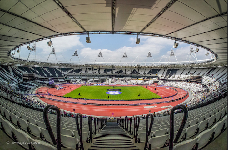 Expansive Olympic Stadium. Photo: Grant Bush (2013)