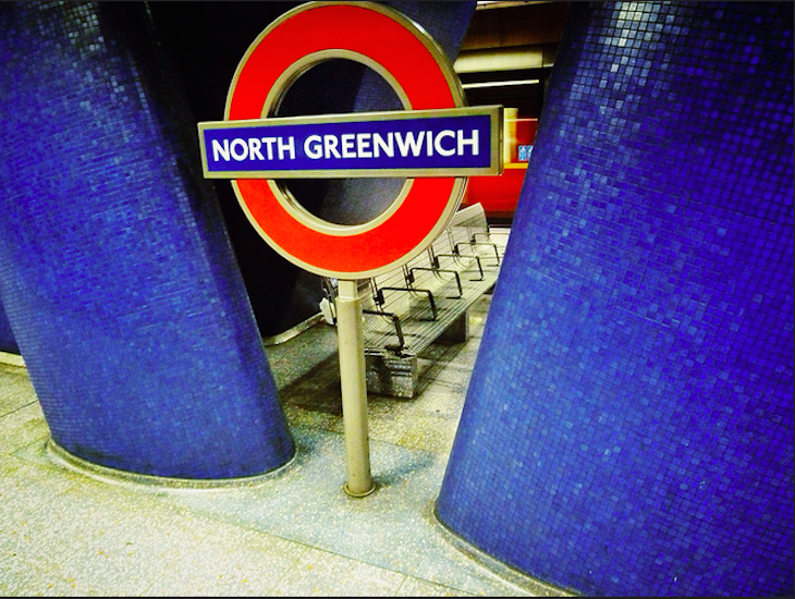 Empty North Greenwich station. Photo: Doug (2013)