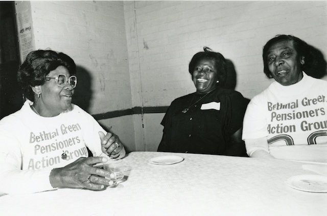 LB Tower Hamlets, Bethnal Green Pensioners Action Group open day at St Hilda's Community Centre, 1992 (© London Borough of Tower Hamlets)
