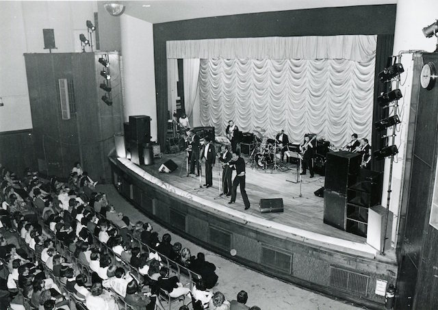 LB Tower Hamlets, The Drifters perform at the Poplar Civic Theatre, 1987 (© London Borough of Tower Hamlets)