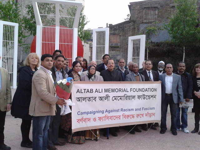 LB Tower Hamlets, commemoration of Altab Ali Day at Altab Ali Park, Whitechapel, 2014 (London Borough of Tower Hamlets courtesy of Ansar Ahmed Ullah)