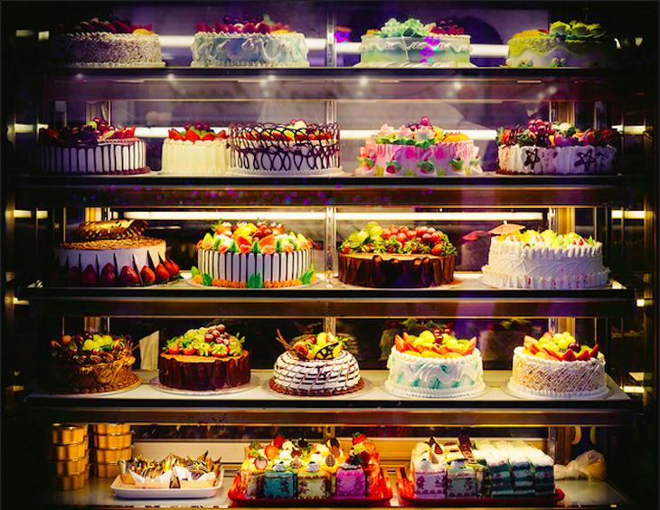 Cake window in Chinatown, London. Photo: Mark Cornick (2015)