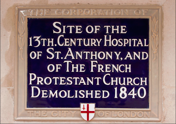 The important Huguenot Church at 52 Threadneedle Street. Photo: Downtime_1882 (2011)