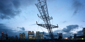 Giant Inverted Pylon Appears In Greenwich