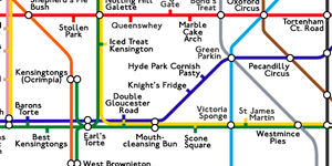 The Baker's Tube Map