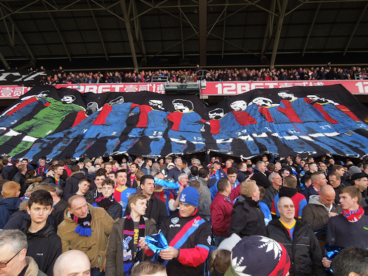 Crystal Palace Versus Manchester United, Holmesdale Stand, Selhurst Park, London. Photo: Paul Wright (2014)