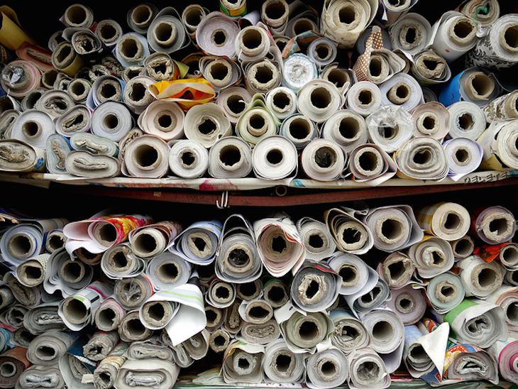 Rolls of fabric on Ridley Road: Photo: Delete (2012)