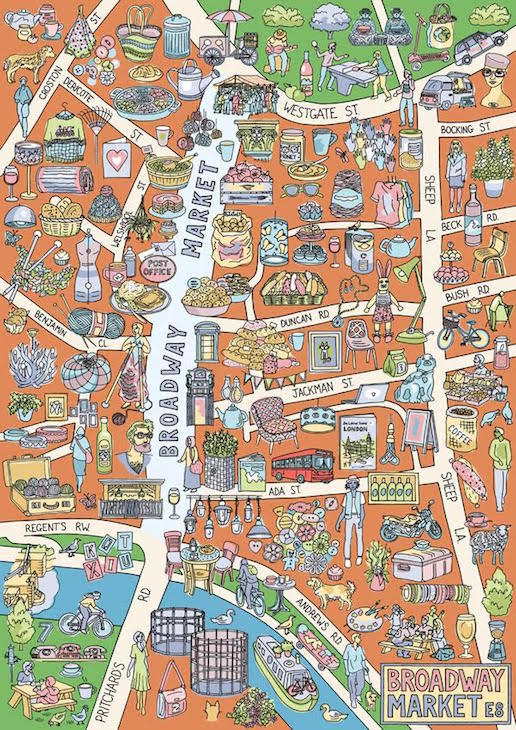 Map Of North East London.East And North London Brought To Life In Hand Drawn Maps Londonist