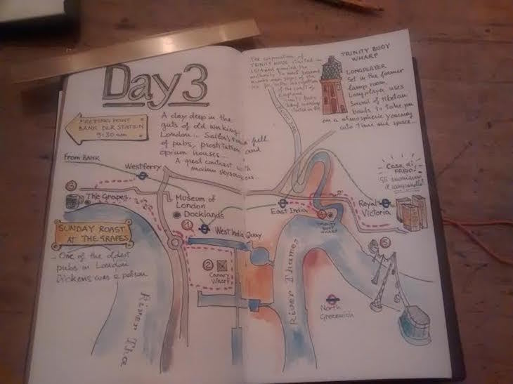 This Guy Planned His Weekend In London In Beautiful Hand-Drawn Maps