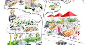 Hand-Drawn London Maps: Edible Clapham