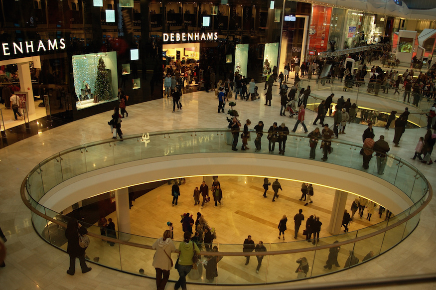 The quietest times at London's shopping centres.