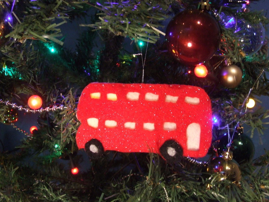 How To Make A London Bus Christmas Tree Decoration