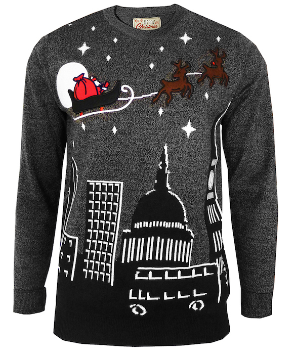 Wearing a Christmas jumper, whether sincerely, ironically, or just for the fun of it, is swiftly becoming a popular way to celebrate Christmas. Other Christmas themed clothing includes t-shirts, dresses, cardigans, hats, and singlets.
