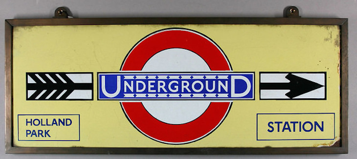 Classic Tube Poster With Johnston Typeface