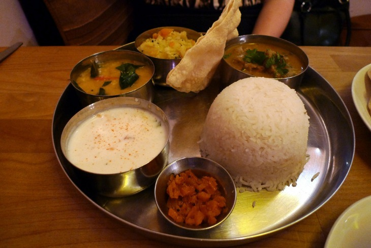 Vegetarian food at Ganapati South Indian restaurant, Peckham