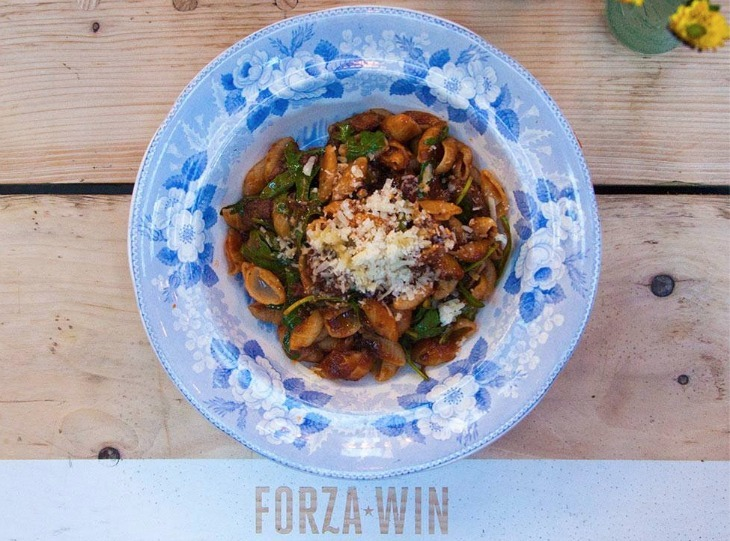 Best places to eat comfort food in London: pasta and wine at Forza Win
