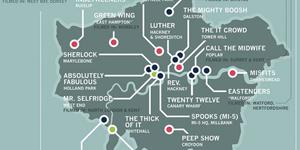 Designer Creates Map Of TV Shows Set In London
