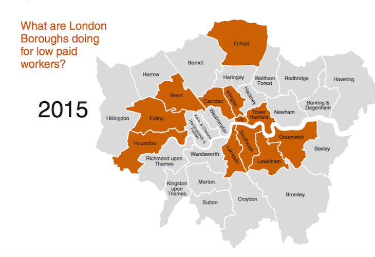 Should All London Businesses Pay The London Living Wage Londonist - Living wages in the us map