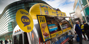 SPAM Can Tour Arrives In London In Huge Can On Wheels