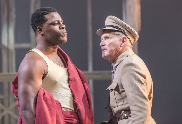 Danny Sapani as Tshembe Matoseh and Clive Francis as Major George Rice © Johan Persson