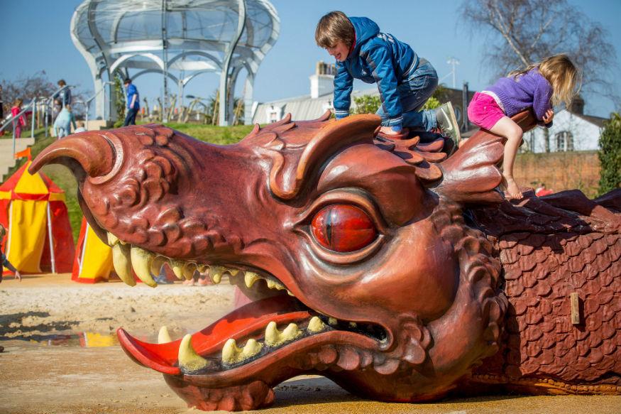 Hampton Court's Magic Garden: King Of Playgrounds