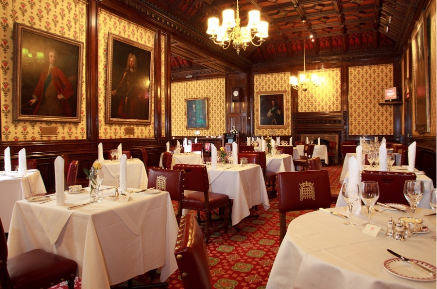 Dine at the house of lords this april londonist for Dining room d house of commons