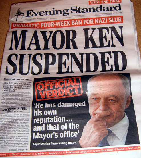 Twitter Reacts To Ken Livingstone Suspension