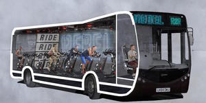 Introducing The Commuter Bus With A Spin Class On It
