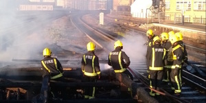 Track Fire At Vauxhall Station Causes Travel Delays