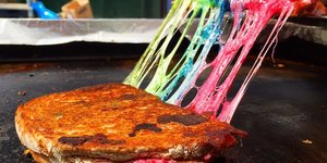 You Can Get A Rainbow Cheese Toastie Today