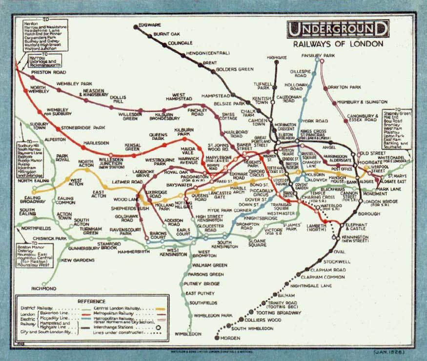 the 1926 tube map