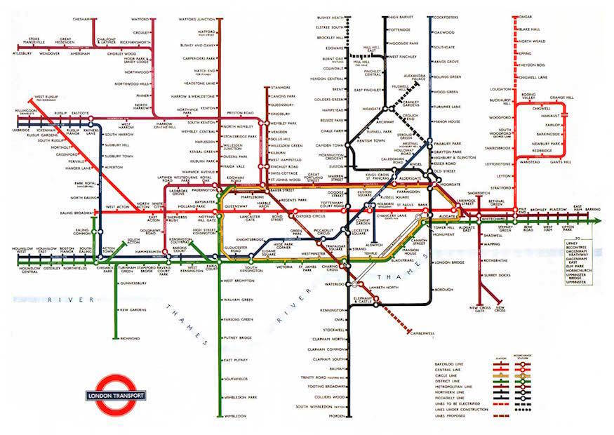 The History Of The Tube Map Londonist
