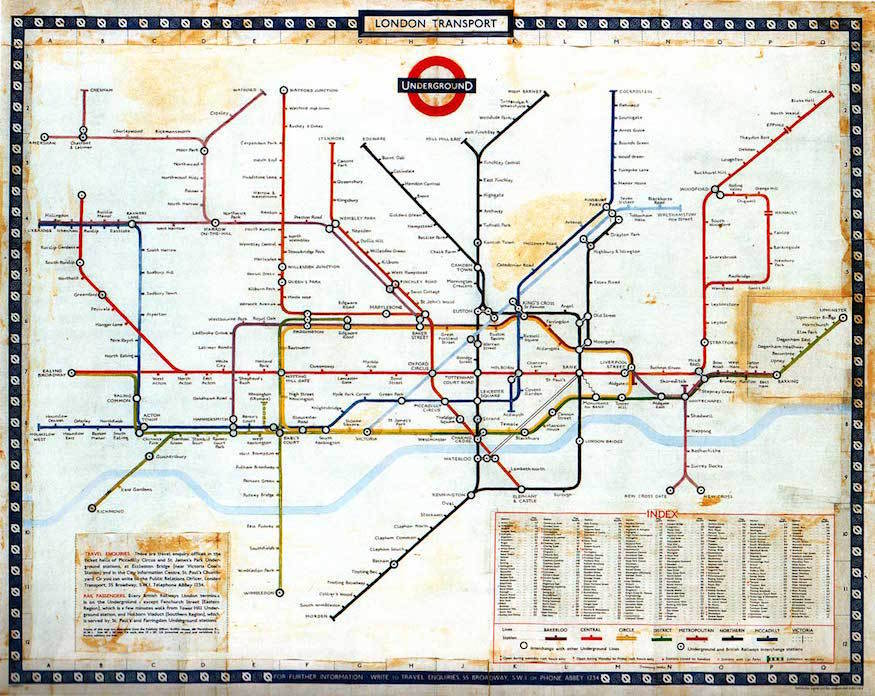 London England Subway Map.The History Of The Tube Map Londonist