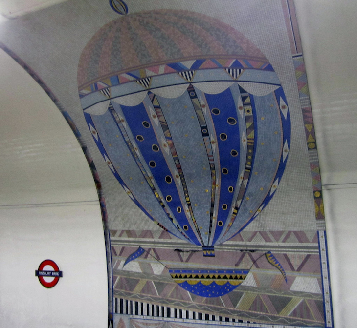 Why Are There Hot Air Balloon Mosaics At Finsbury Park Tube?