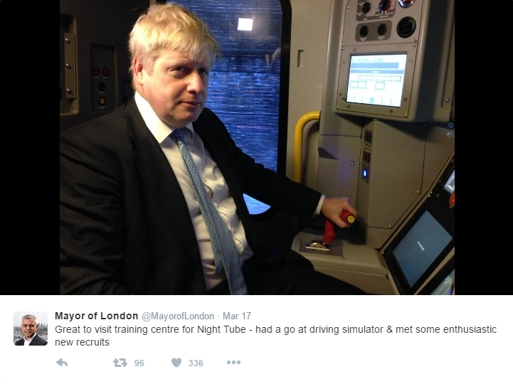 Ghost Of Boris Haunts Mayor Of London Twitter Account