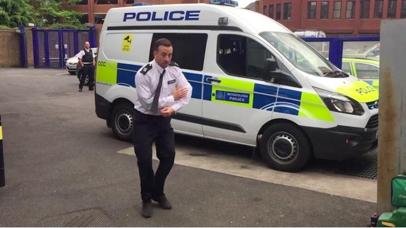 Dancing police