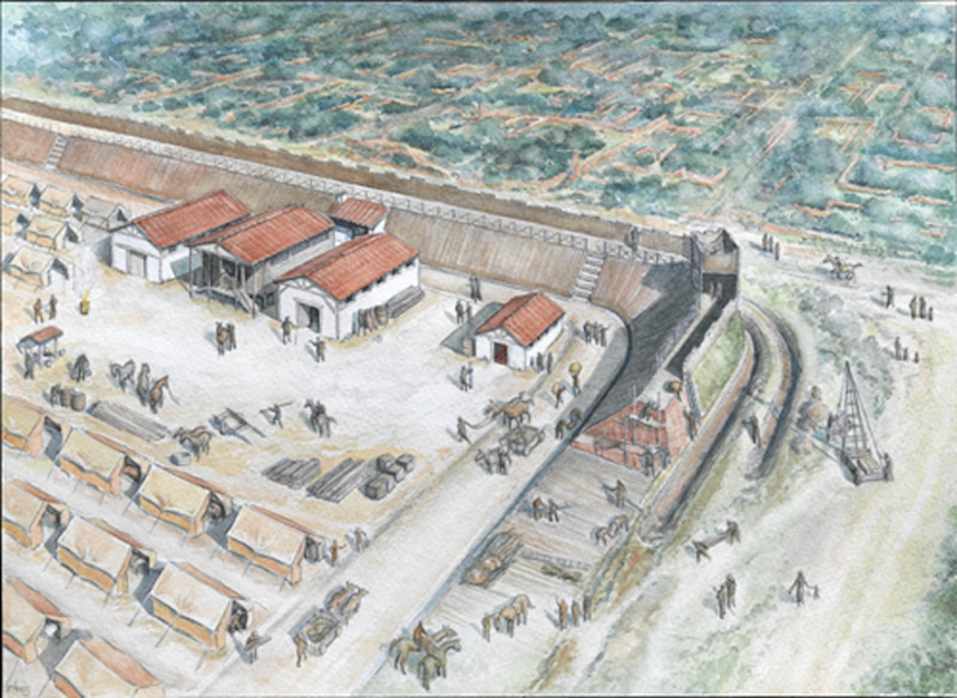 Build A Roman Fort Game