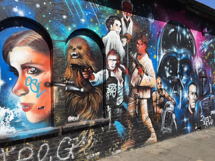 Happy star wars day seen this mural in shoreditch for Mural star wars
