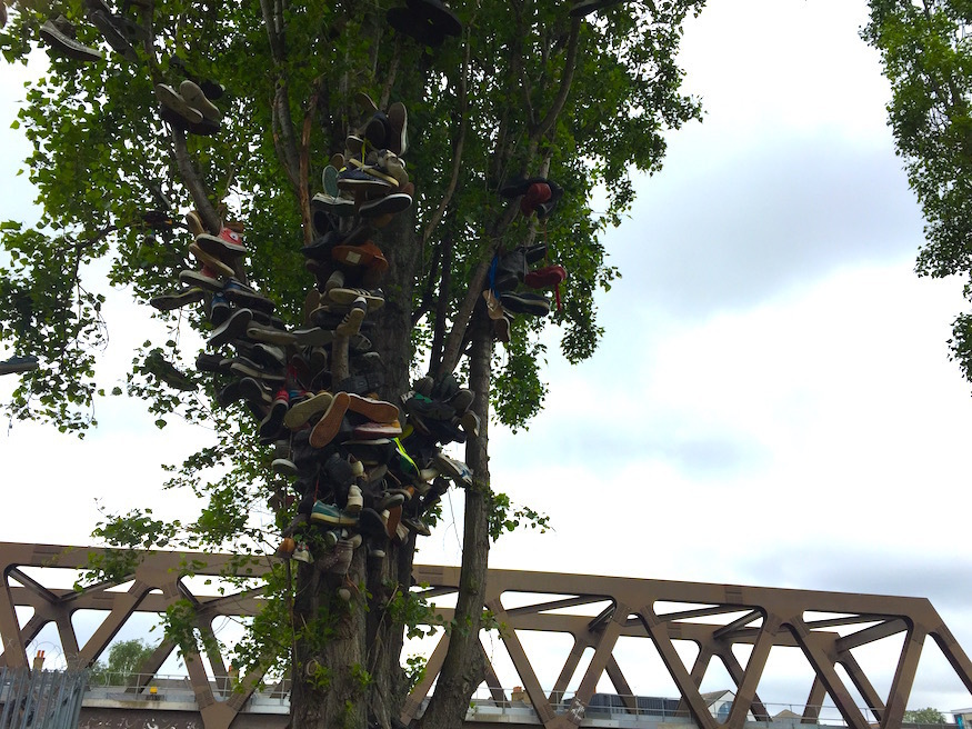 What are The Dangling Shoe Trees Of Brick Lane About?